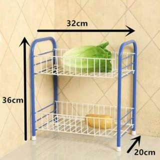 Multipurpose 2 Layer Storage Rack for Home Office