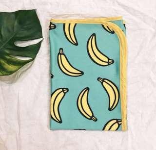 Banana Travel/Stroller Baby Blanket