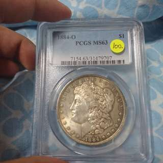 USA morgan dollar coin 1884-o
