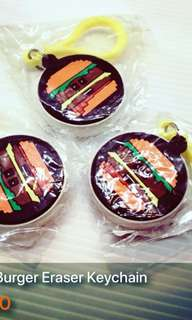 Smiggle Eraser Burger Keychain