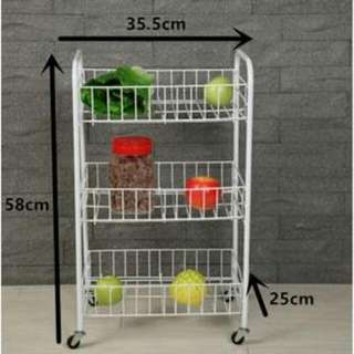 Multipurpose 3 Layer Storage Rack for Home Office
