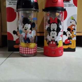 Botol Minum Mickey, Minnie - Water Bottle Mickey, Minnie