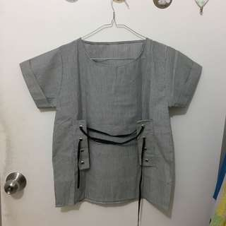 Atasan blouse abu