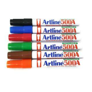 Artline 500A Whiteboard Marker Pen 6 colours