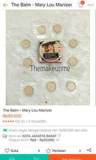Highlighter in jar the balm (Mary lou manizer)