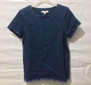 (全新)French Collection indigo有袖上衣