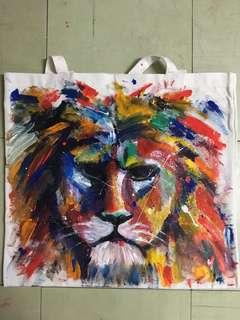 Hand-Painted Artisan Tote Bag!