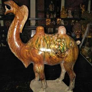 唐代纹胎三彩骆驼(供赏)86218574