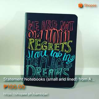 Statement Notebooks (lined)