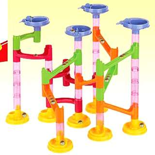 58pcs Marble Run Race Maze Educational Puzzles Toy Set