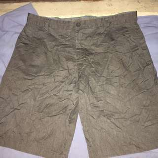 DWNTWN khaki plus size men walking shorts W38