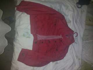 Red denim croptop jacket