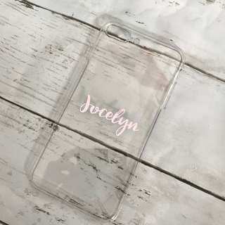 Customized phone case - handcrafted, personalisable holographic name