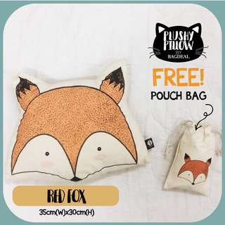 Red Fox Plushy Pillow