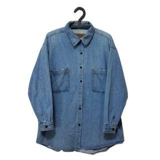 第二件 8 折🎉厚磅牛仔襯衫 復古 古著 二手