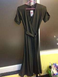 全新 gap 墨綠開襟針織洋裝 連身裙