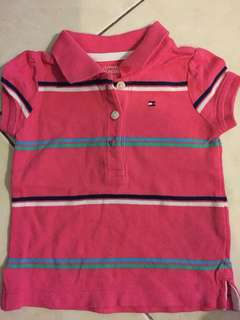 TOMMY HILFIGER TOP PINK 3-6 mth