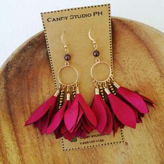Handmade Earrings (Catriona in Red)