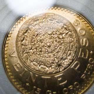 Mexico Gold 1959 20 Pesos AGW 15g BU