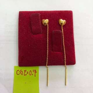 Tic-toc Earrings 18K Saudi