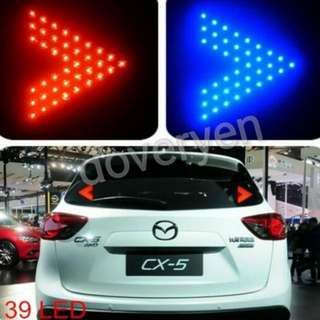 Windshield Led Signal / Led Brake Lights  ★ARROW DESIGN 39 LED   ★Usage :     Additional Brake Light      Additional Signal Light  ★Red Blue Yellow Available   ★Can Be Fitted On Car Van Lorry  IN STOCK