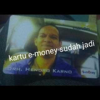 Jasa Buat Kartu E-money Custom Bisa pakai Foto Pribadi, keluarga ataupun Pacar