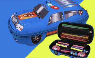 Little Police Car Pencil Case - ZXD541  Color/ Design: as attach photo