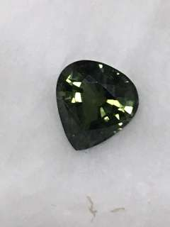 Faceted green tourmaline tear drop