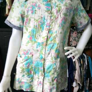 REPRICED!!! Pastel blouse 100% soft cotton