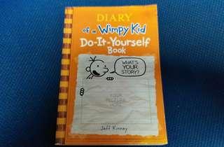 95%新 diary of a wimpy kid do-it-yourself book