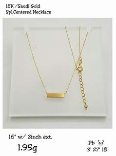 Centered Necklace(18K)