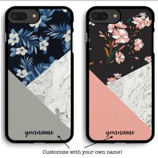 #70 Floral marble phone cover