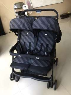 PRELOVED STROLLER JOIE MEET AIRE TWIN LIQUORICE