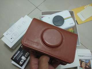 Leather Case Bag for Polaroid Snap Touch Instant Print Digital Camera (Brown)