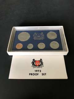 Singapore 1972 Proof Coins Set
