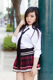 School girl Plaid Pleated Mini Skirt