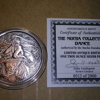 美國限量仿古銀幣,仿古銀幣,銀幣,紀念幣,收藏錢幣,錢幣,幣,silver coin,silver~美國慕哈仿古銀幣(全世界只有二千枚,9999純銀鑄造,全新一盎司,有原廠保證書)(The silver coin 1oz)