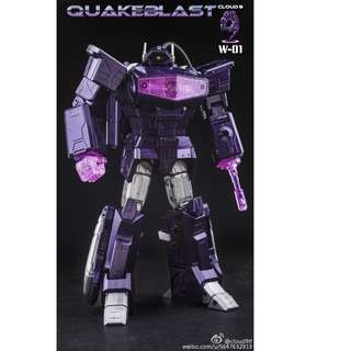 [Preorder] Cloud 9 W-01 C9 QuakeBlast (Shockwave) Normal Version, reissue