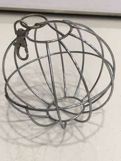 Steel hay ball holder