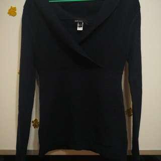 Mango深藍毛衣 冷衫 navy cashmere