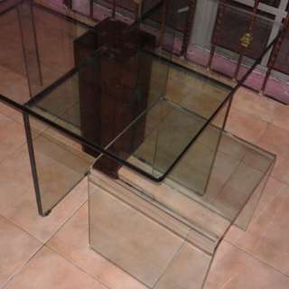 ikea glass table n chairs..