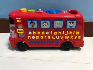 VTECH playtime bus with phonics red bus toy
