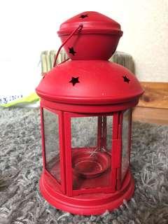 🚚 IKEA 紅色星星燭台