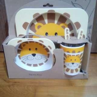 Bamboo Fiber Cutlery Kids Set (Lion)
