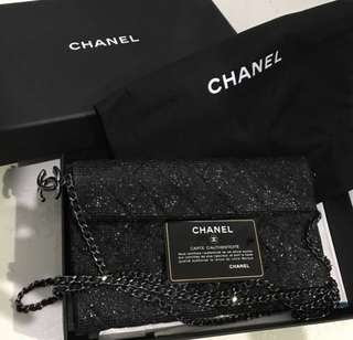 Chanel small dinner clutch with chain