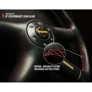 Brand New Universal Flat Steering Wheel, come with box ( MOMO )