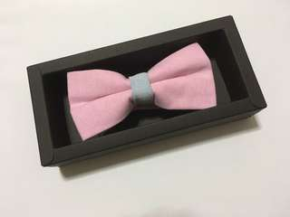 Bow Tie with Gift - Preppy Light Pink