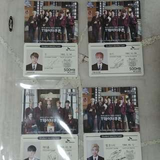 BTS SKT Data Cards