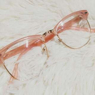 Pink Clear Glasses