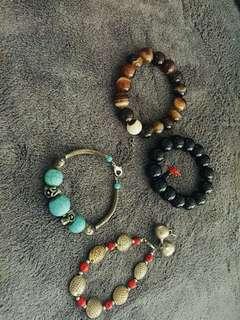 Lucky Charm Bracelet Bought in Hongkong for 1k each.take all for 1500